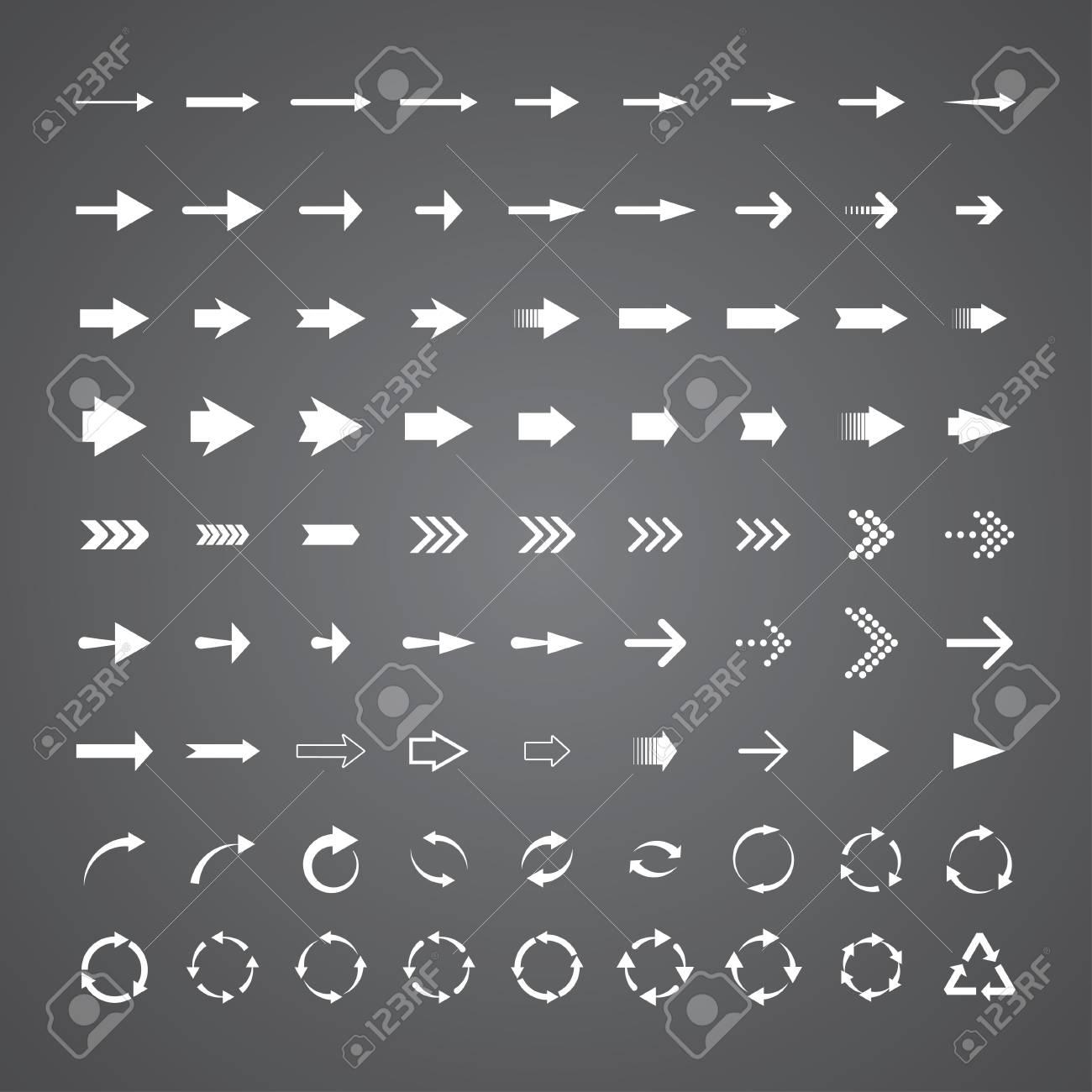 set of 81 universal arrows. eps8 Stock Vector - 19914749