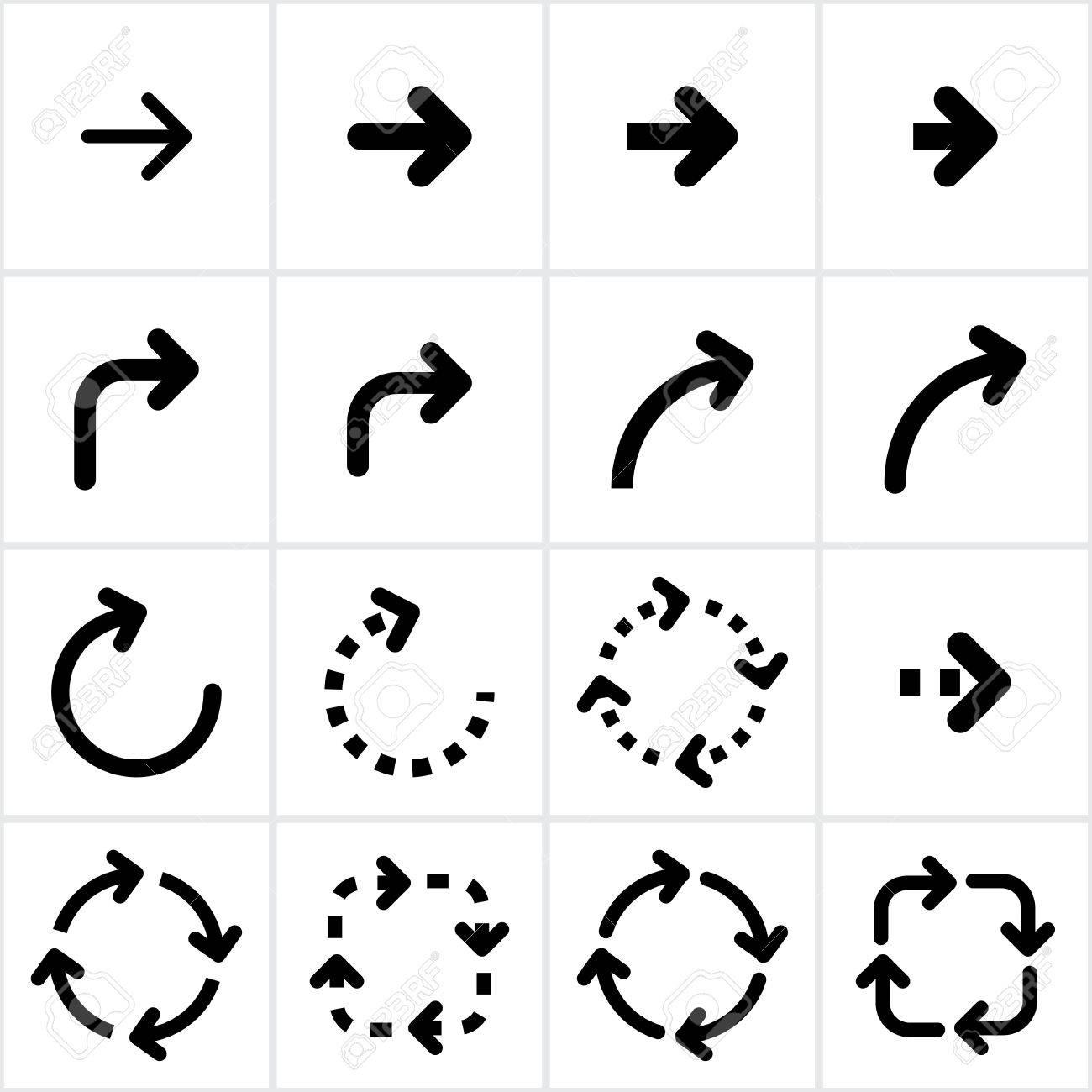 set of black arrows. Stock Vector - 21036144