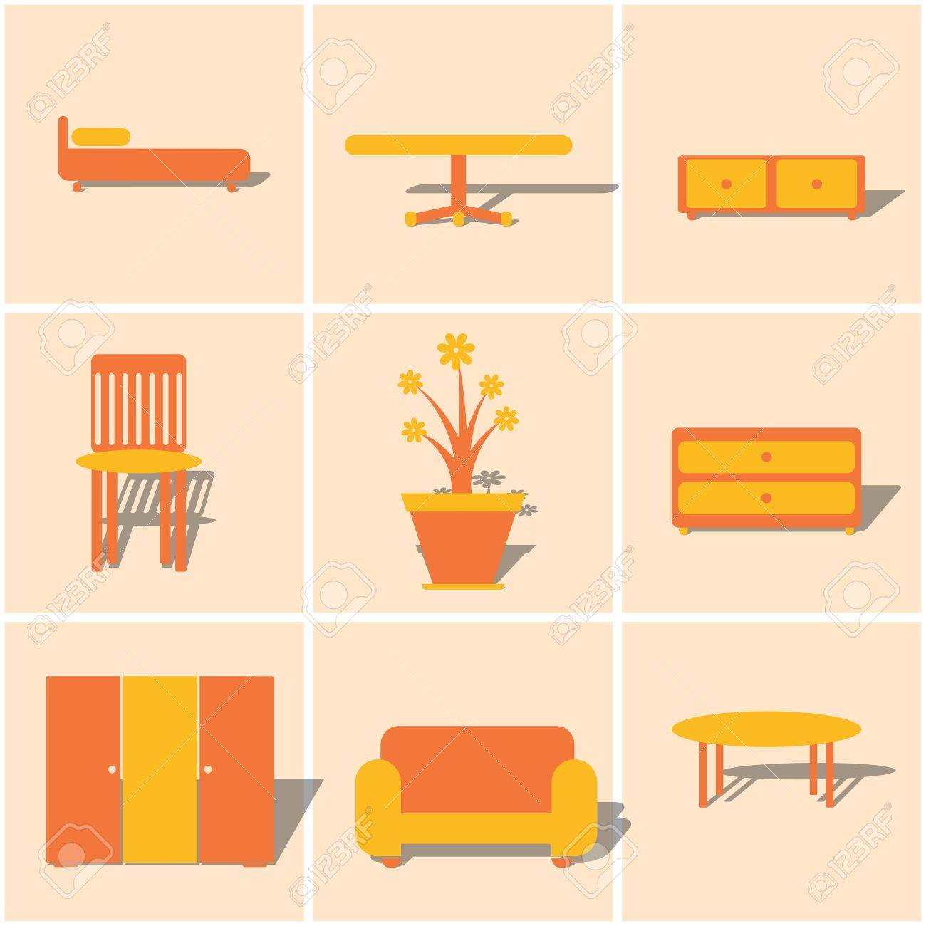 Orange Accessories For Bedroom 618 Bedroom Accessories Stock Illustrations Cliparts And Royalty