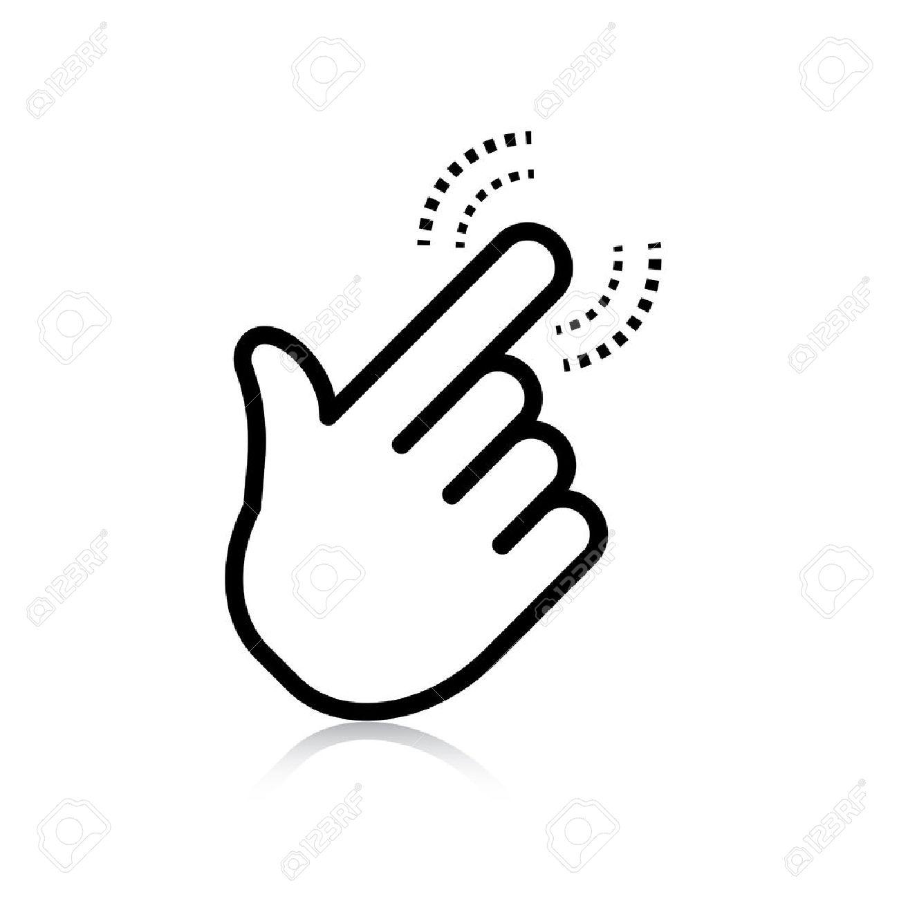 click. hand icon pointer. vector eps8 - 22951731