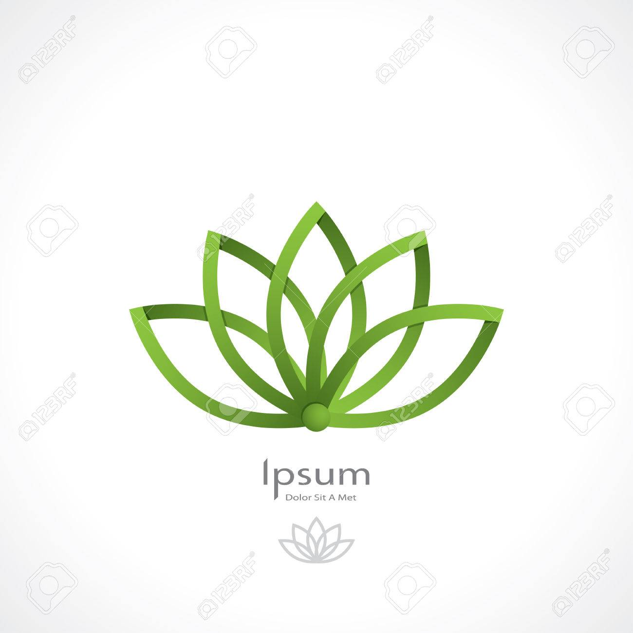 Green lotus symbolic the style of origami royalty free cliparts green lotus symbolic the style of origami stock vector 31431990 izmirmasajfo