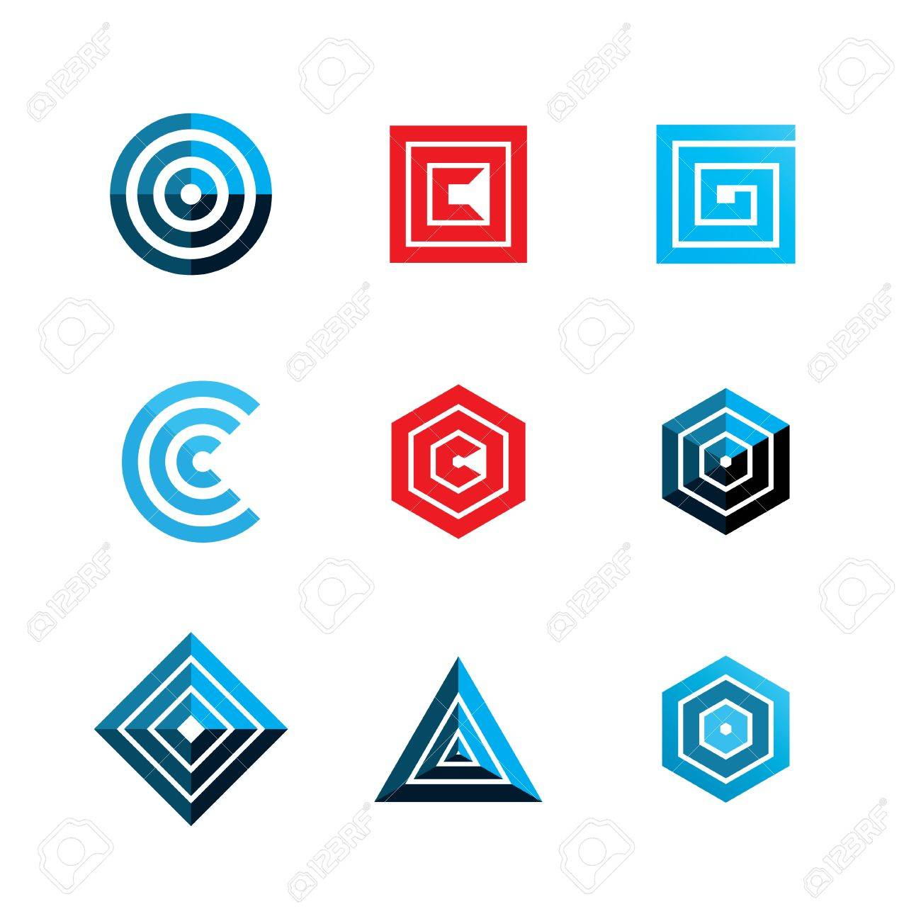 abstract geometric shapes template logo design vector eps8 royalty