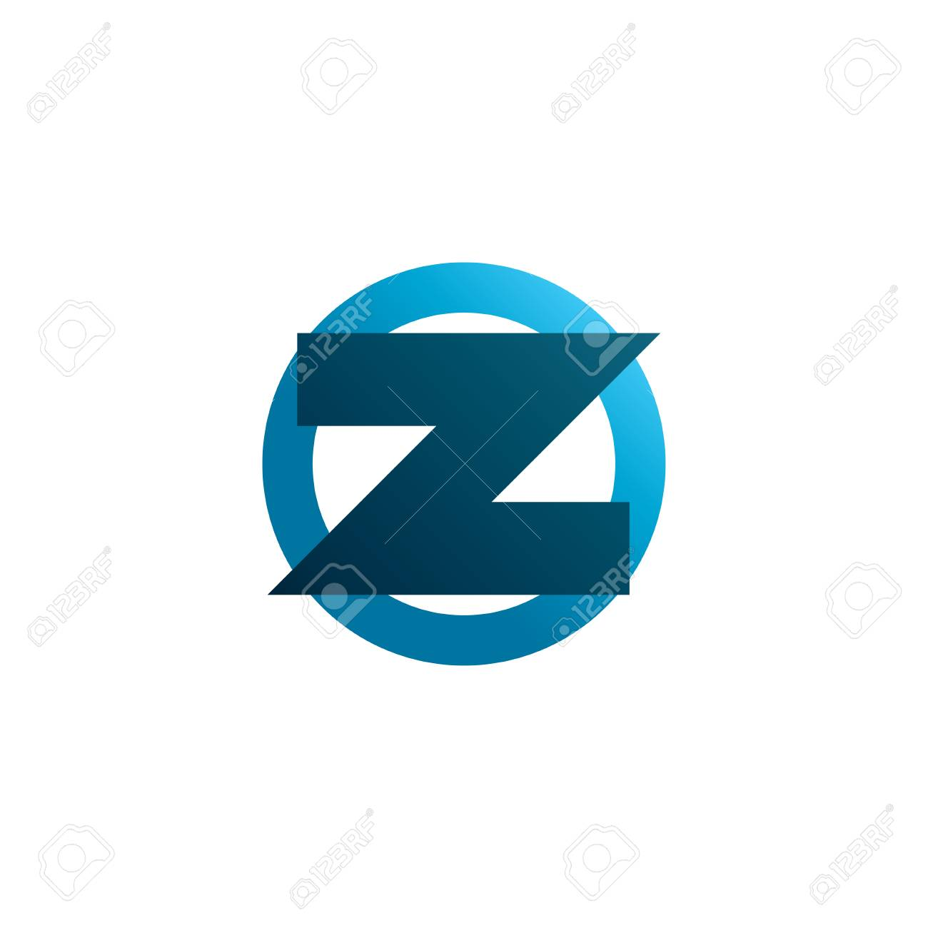 abstract symbol of letter z template logo design vector eps8