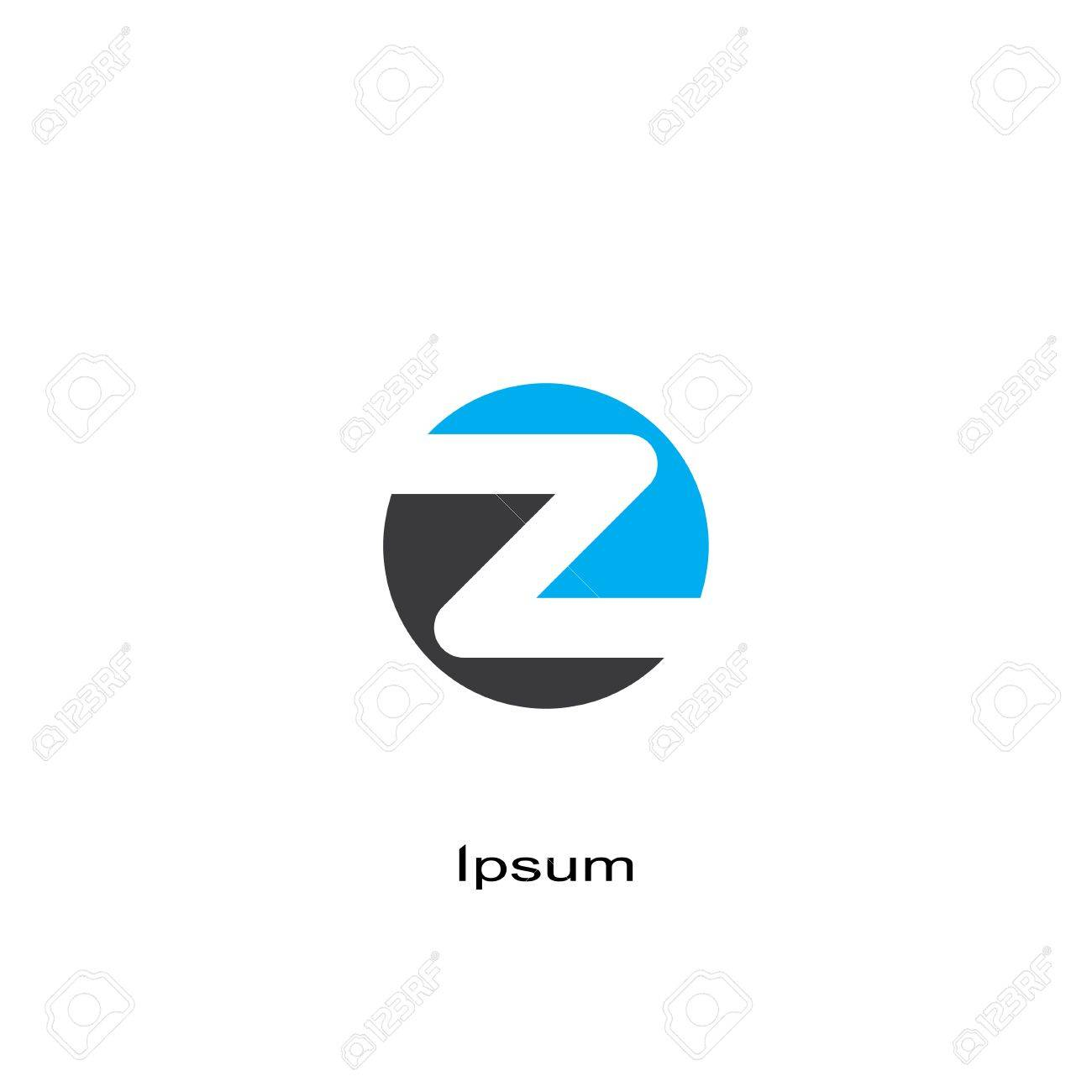 round symbol of letter z template logo design vector eps8