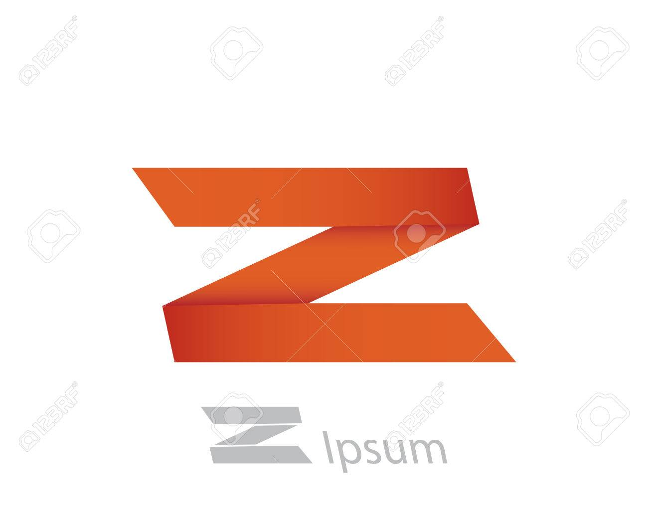 symbol of ribbon letter z template logo design vector eps8