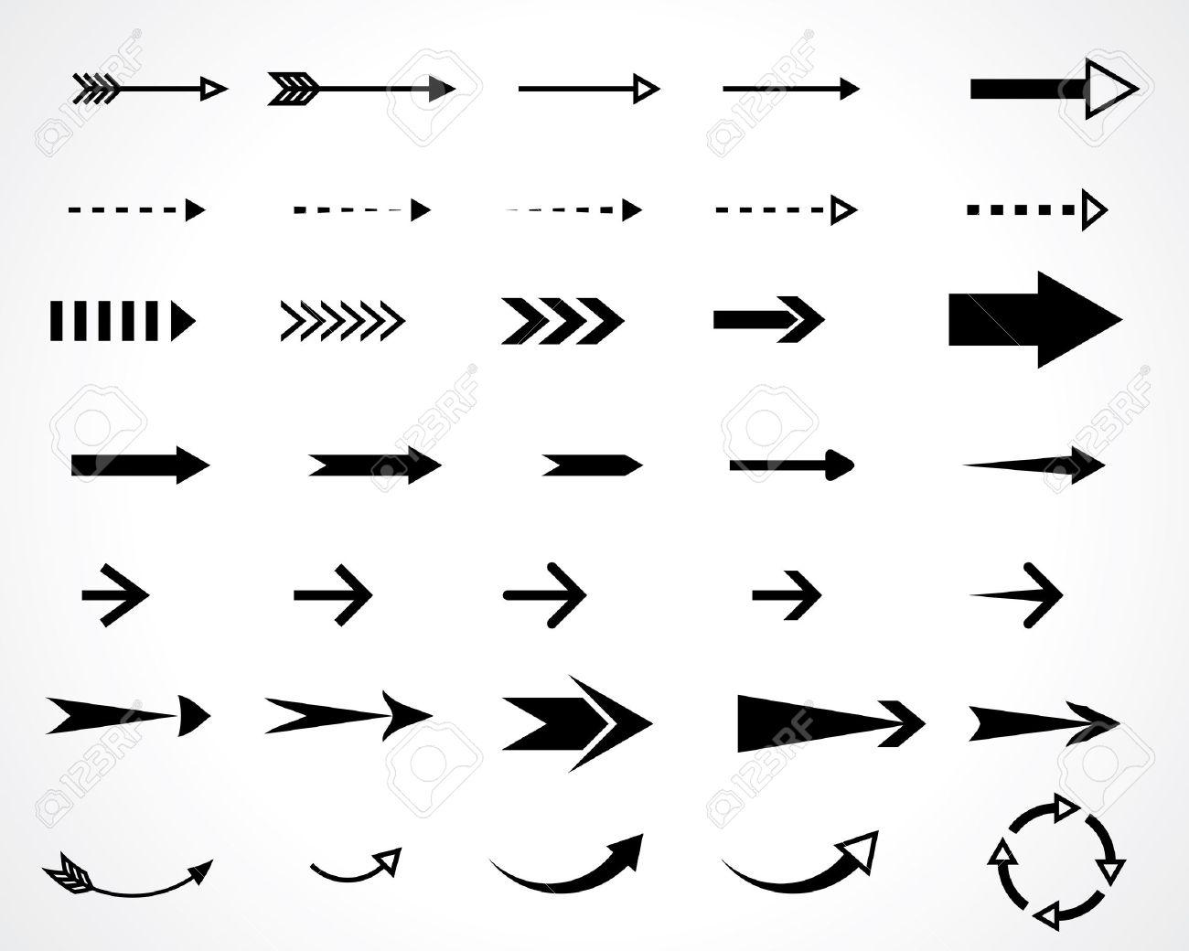 arrows. vector design elements set. eps8 - 32844934