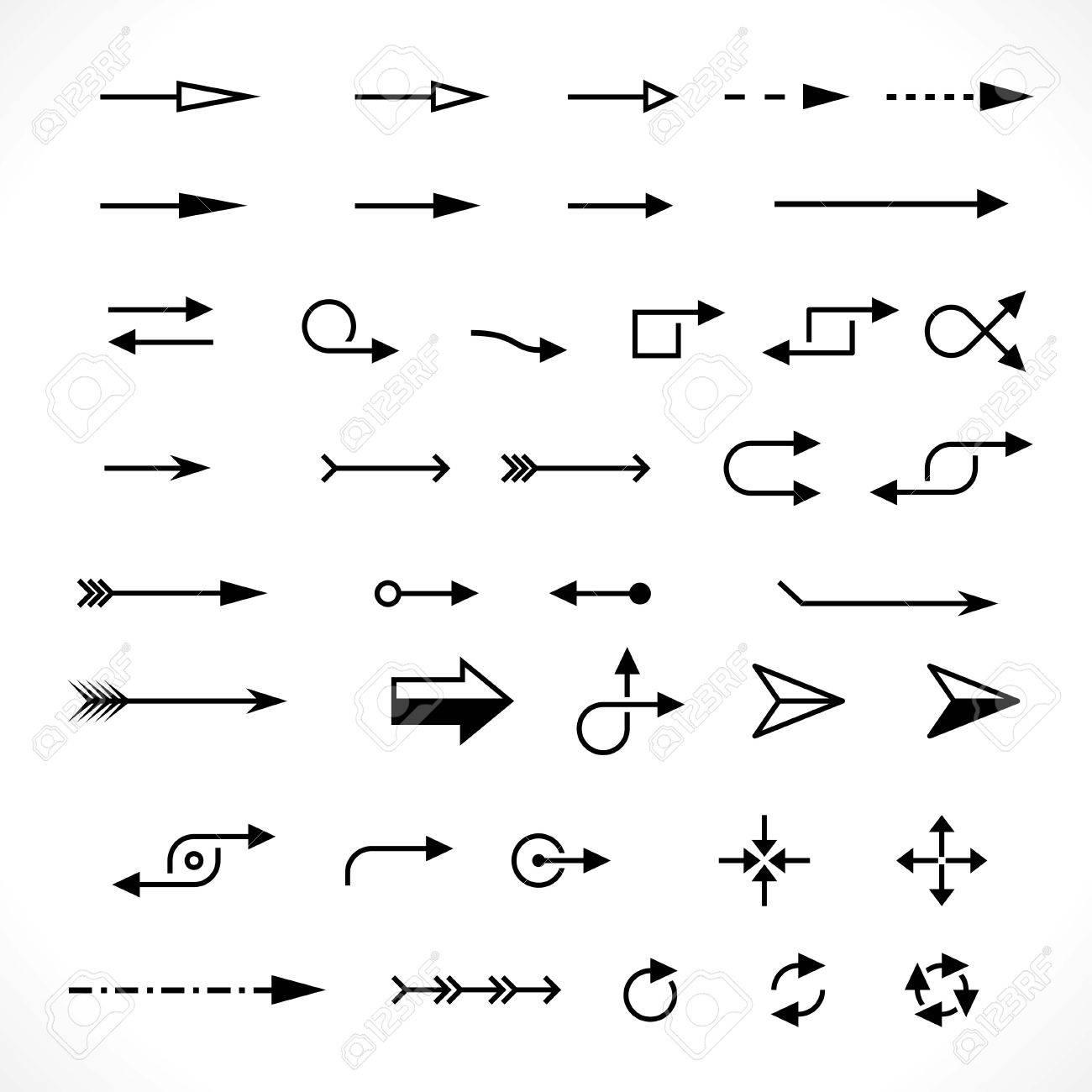 set of technology arrows. vector design elements set - 33574508
