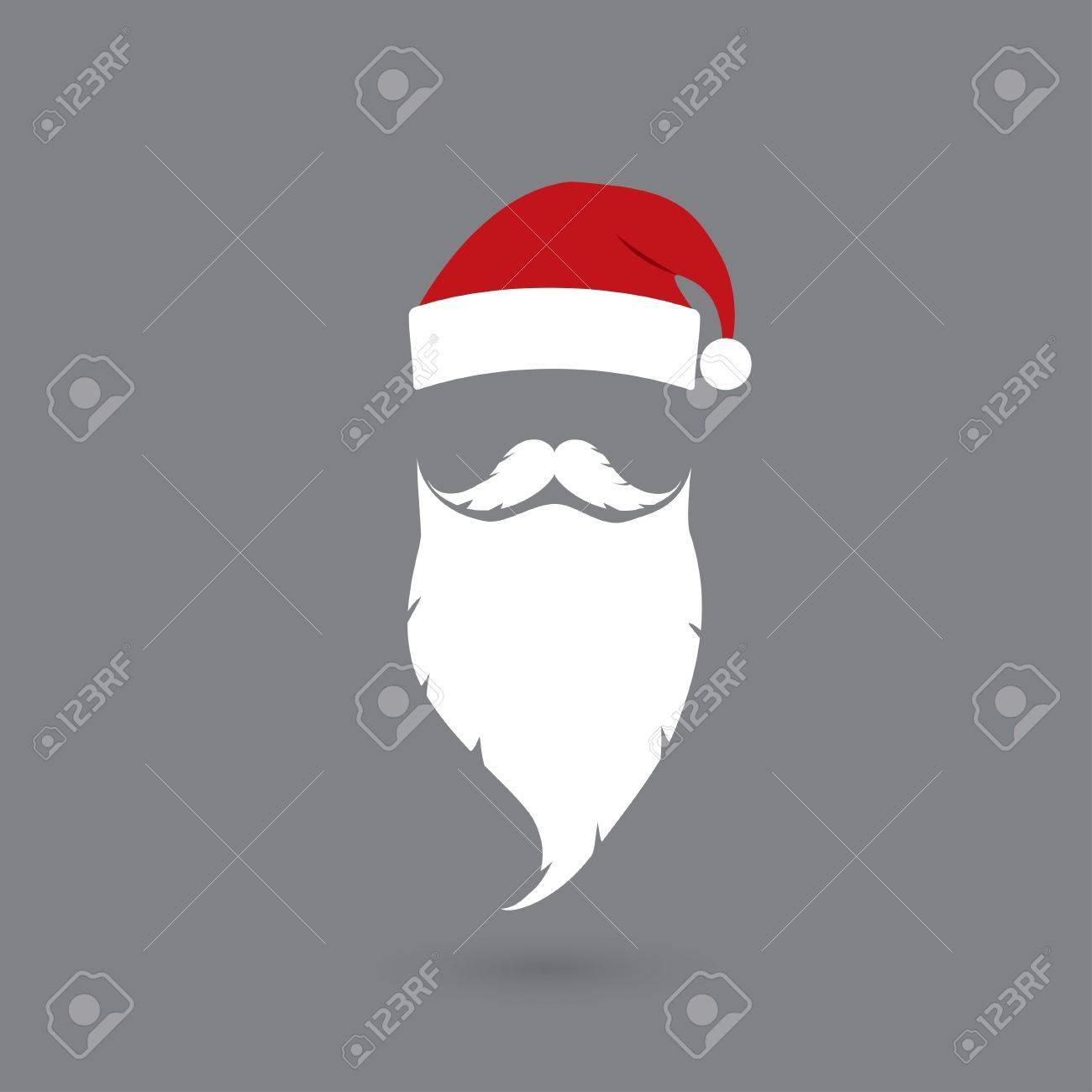 6d61fa2c47f hat and beard Santa claus Stock Vector - 33881941