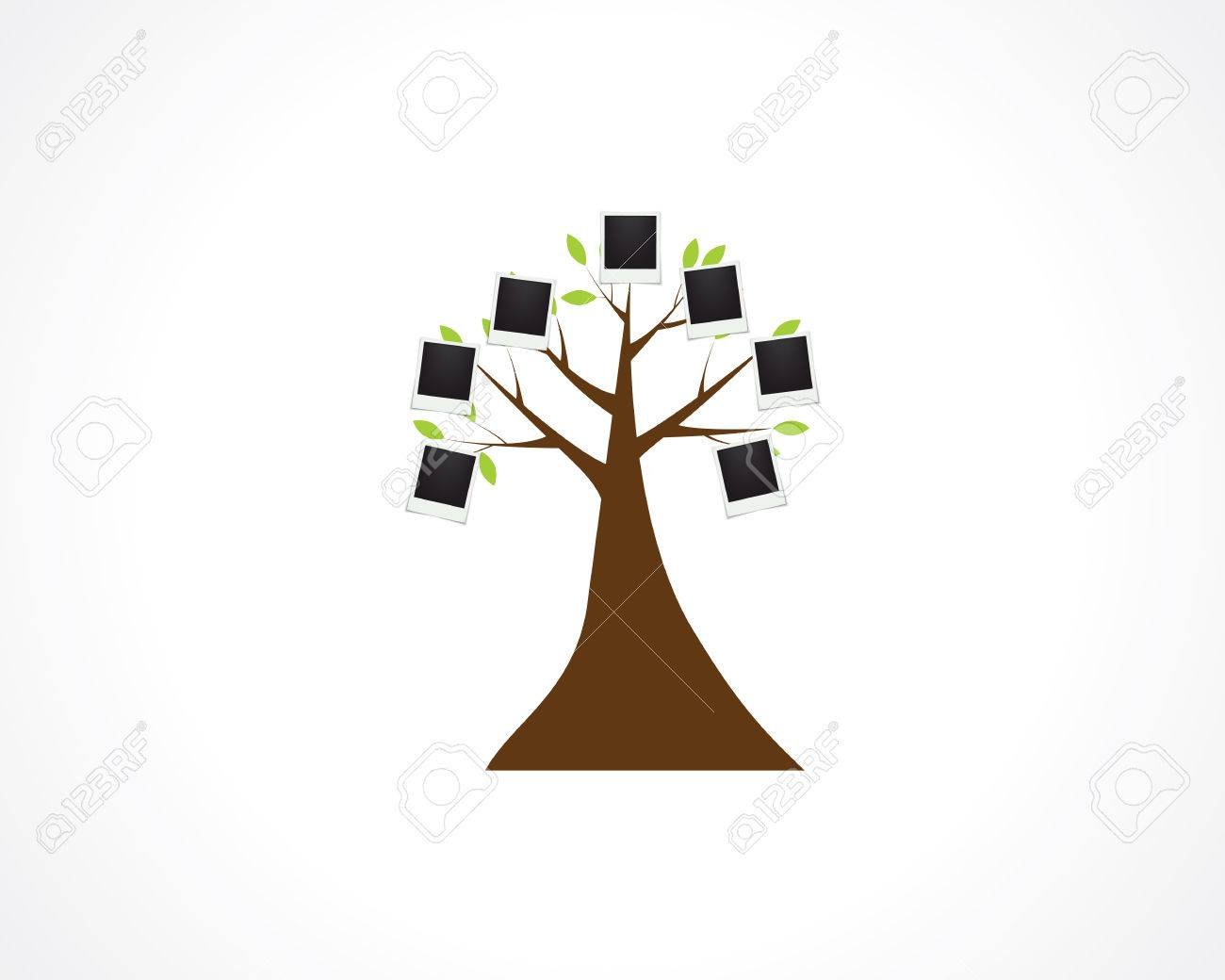 family tree blank template royalty free cliparts vectors and stock