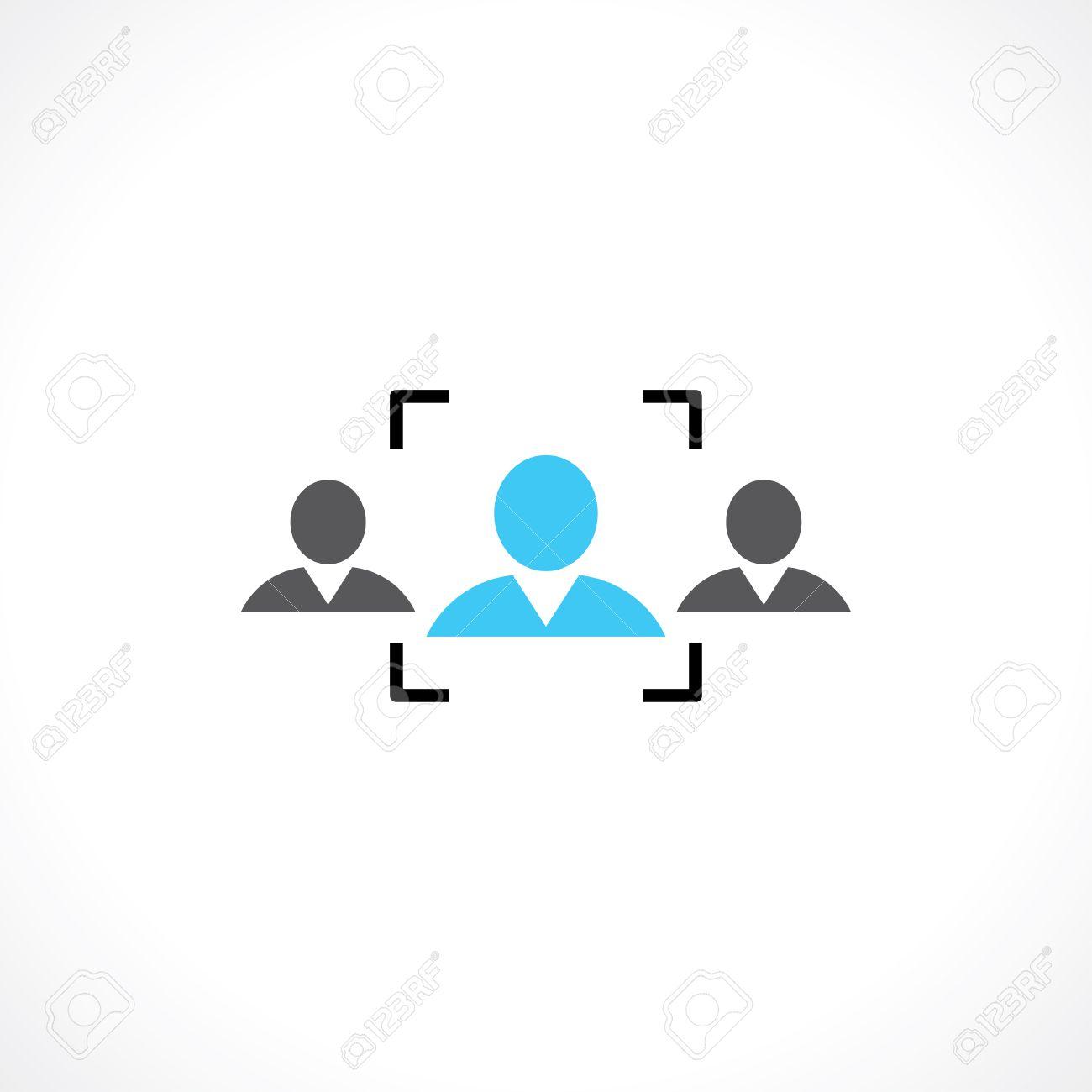 symbol of recruitment people - 37043689