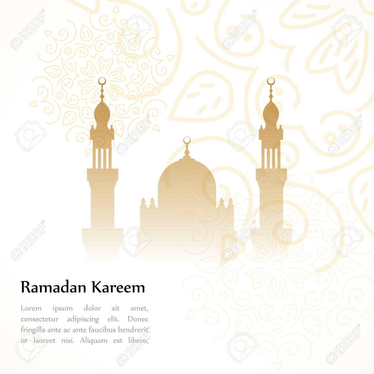 Ramadan greetings postcard with the image of the mosque ramadan ramadan greetings postcard with the image of the mosque ramadan kareem means generous month of kristyandbryce Images