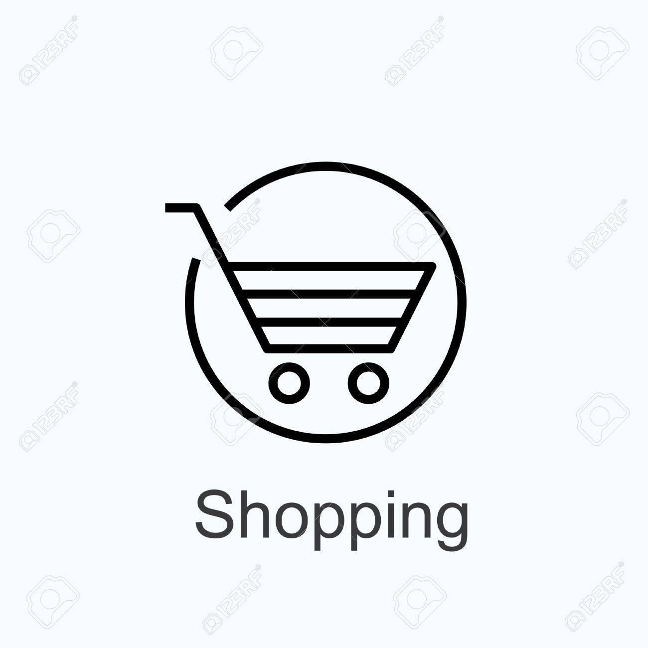 basket - sign shopping. vector icon - 40908315