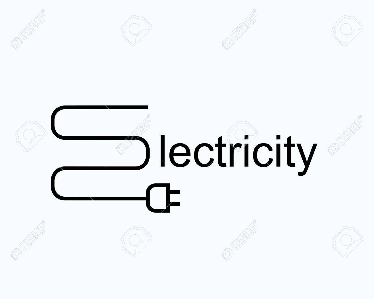 Draht Mit Dem Stecker In Der Form Des Buchstaben E. Symbol Für ...