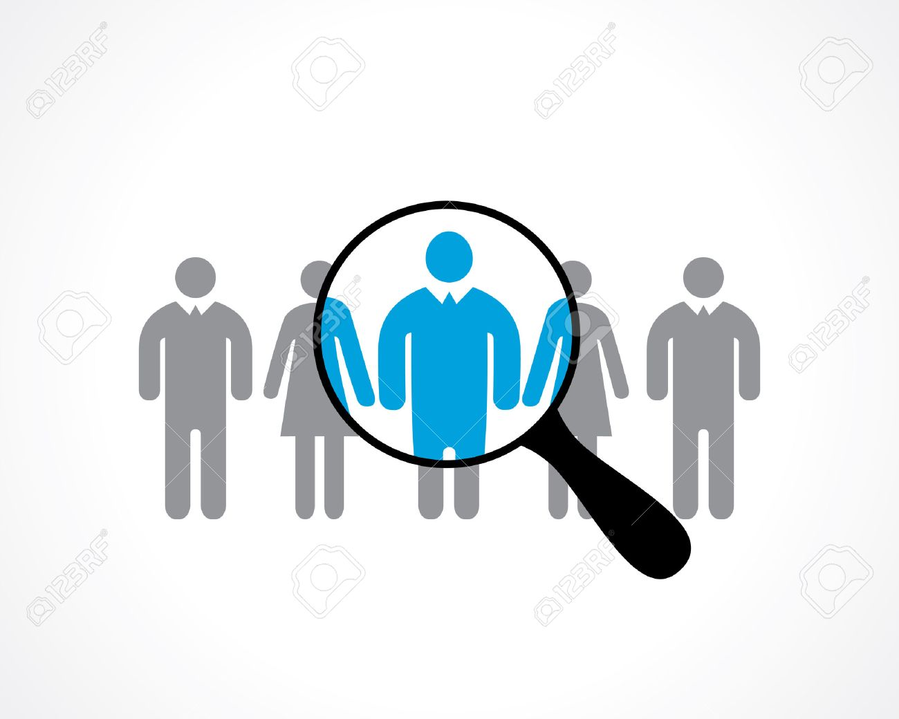 search for employees. recruitment. vector icon - 46672698