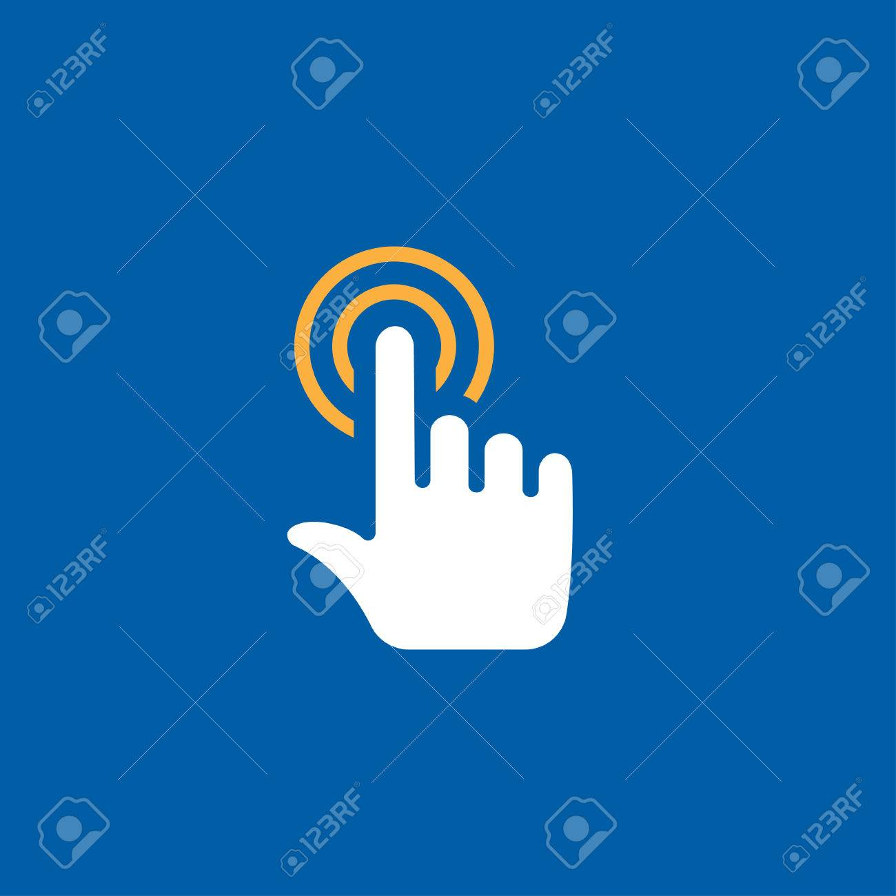 touch click vector icon - 47044402
