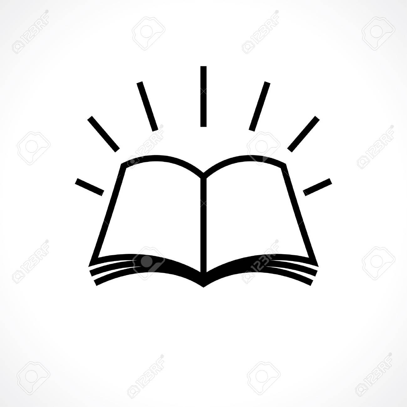 Libro Abierto Conocimiento Símbolo. Diseño De Logotipo De La ...