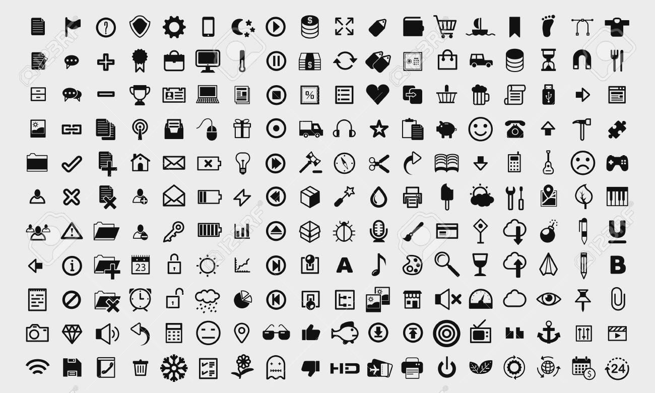 Ui elements icons vector set - 148947911