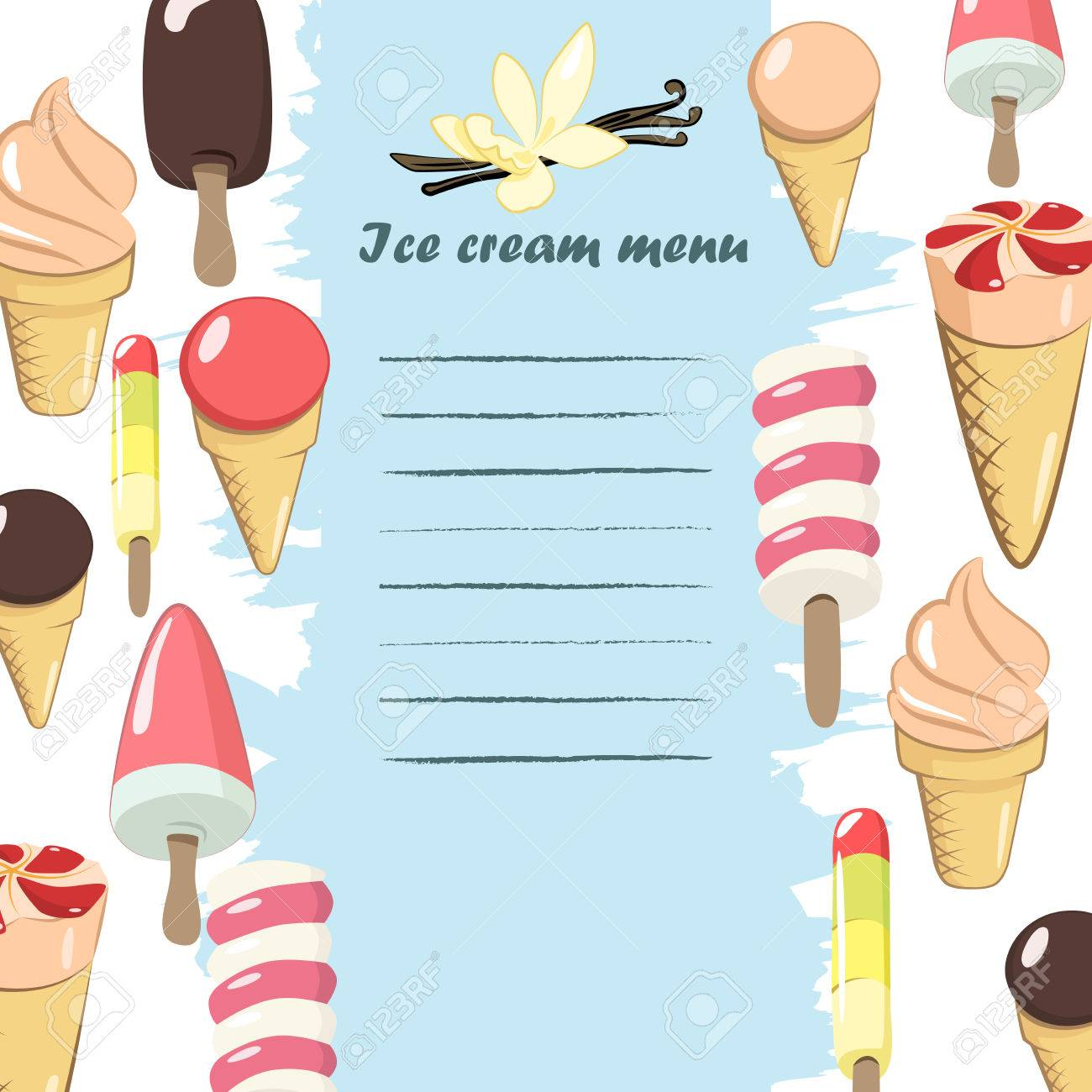 ice cream menu template illustrations royalty free cliparts