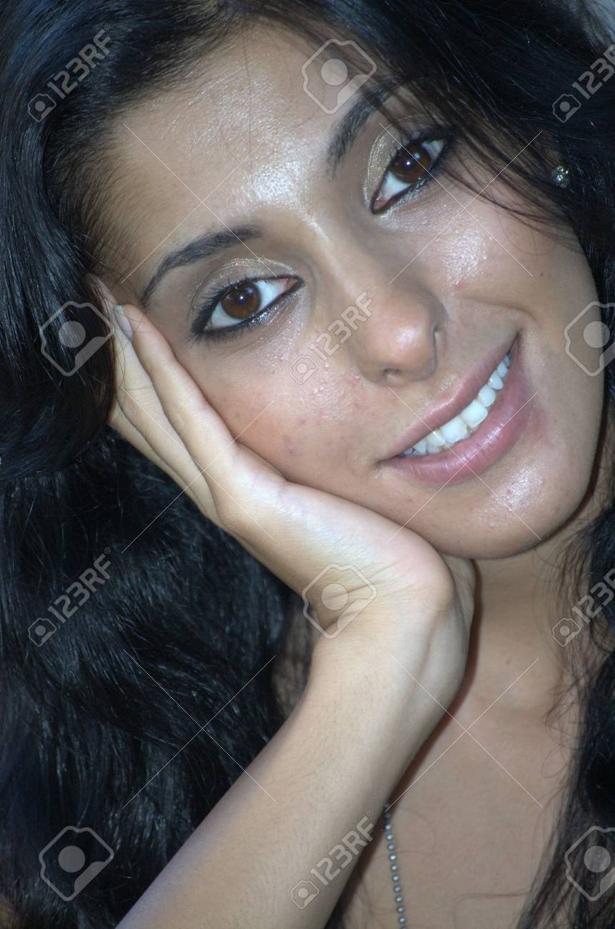 Headshot of a middle eastern woman Stock Photo - 5481519