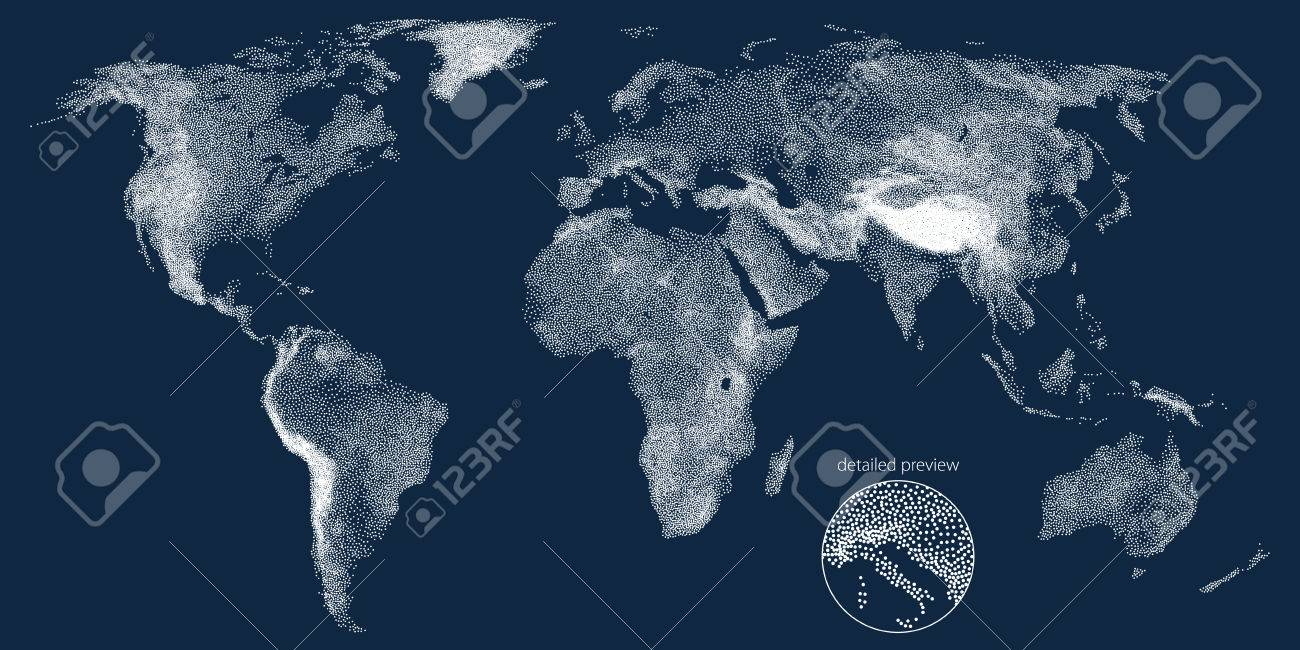 Stippled world relief vector map royalty free cliparts vectors and stippled world relief vector map stock vector 70460601 gumiabroncs Images