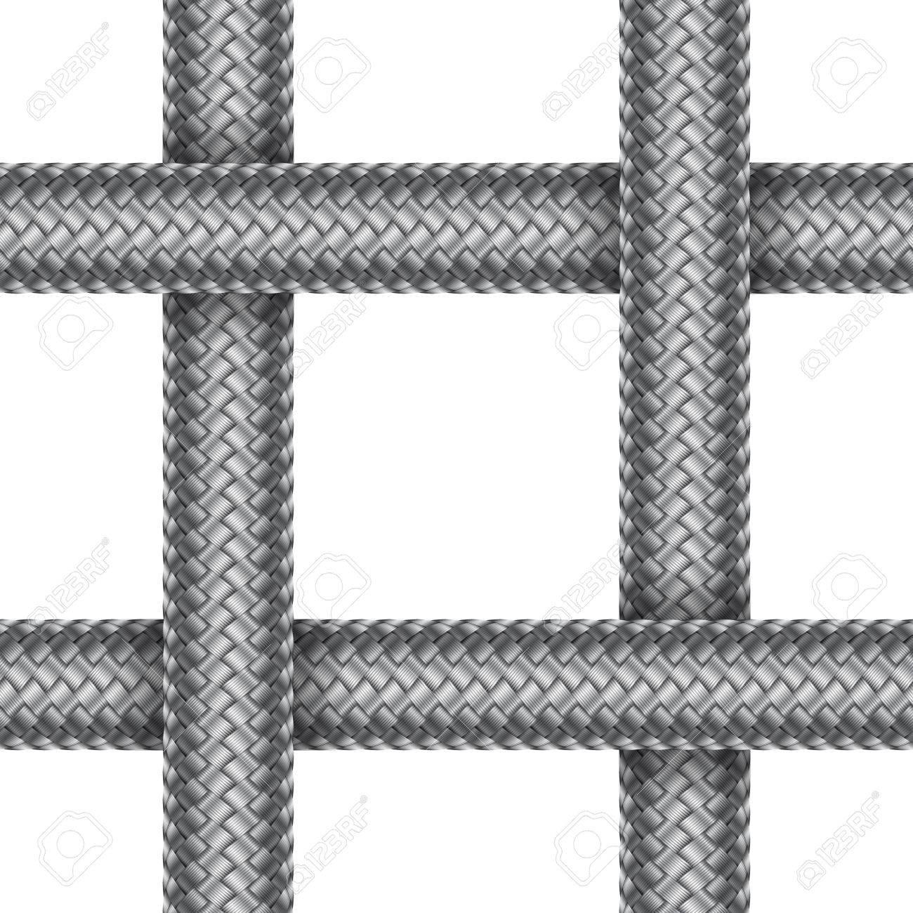 Modelo Inconsútil Del Cordón Trenzado Intersectado. Ilustración Del ...