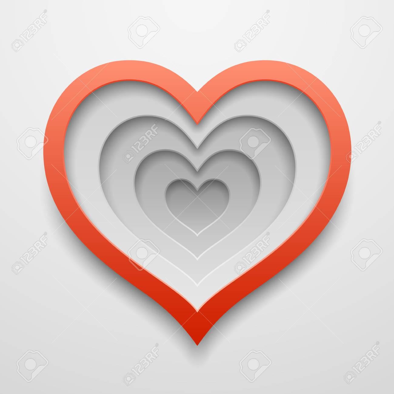 Coeur Decoupe En Forme Joyeux Modele De Decoration De Saint Valentin Ou De Mariage Conception De Vecteur Clip Art Libres De Droits Vecteurs Et Illustration Image 74579490