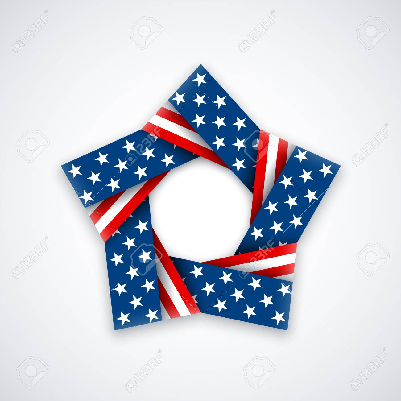 Star made of double ribbon with american flag colors and symbols star made of double ribbon with american flag colors and symbols vector illustration for usa biocorpaavc