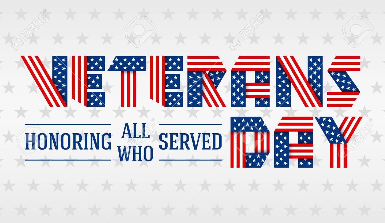 Us Veterans Day Greeting Card Royalty Free Cliparts Vectors And
