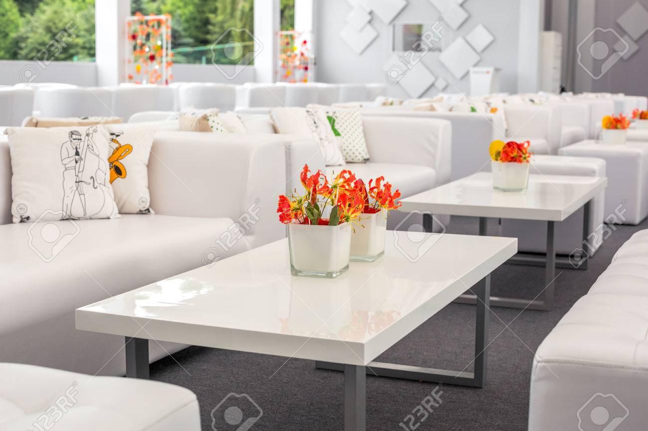 Buffet Dekorationen Blumen Corporate Design Dekoration Weissen Tisch