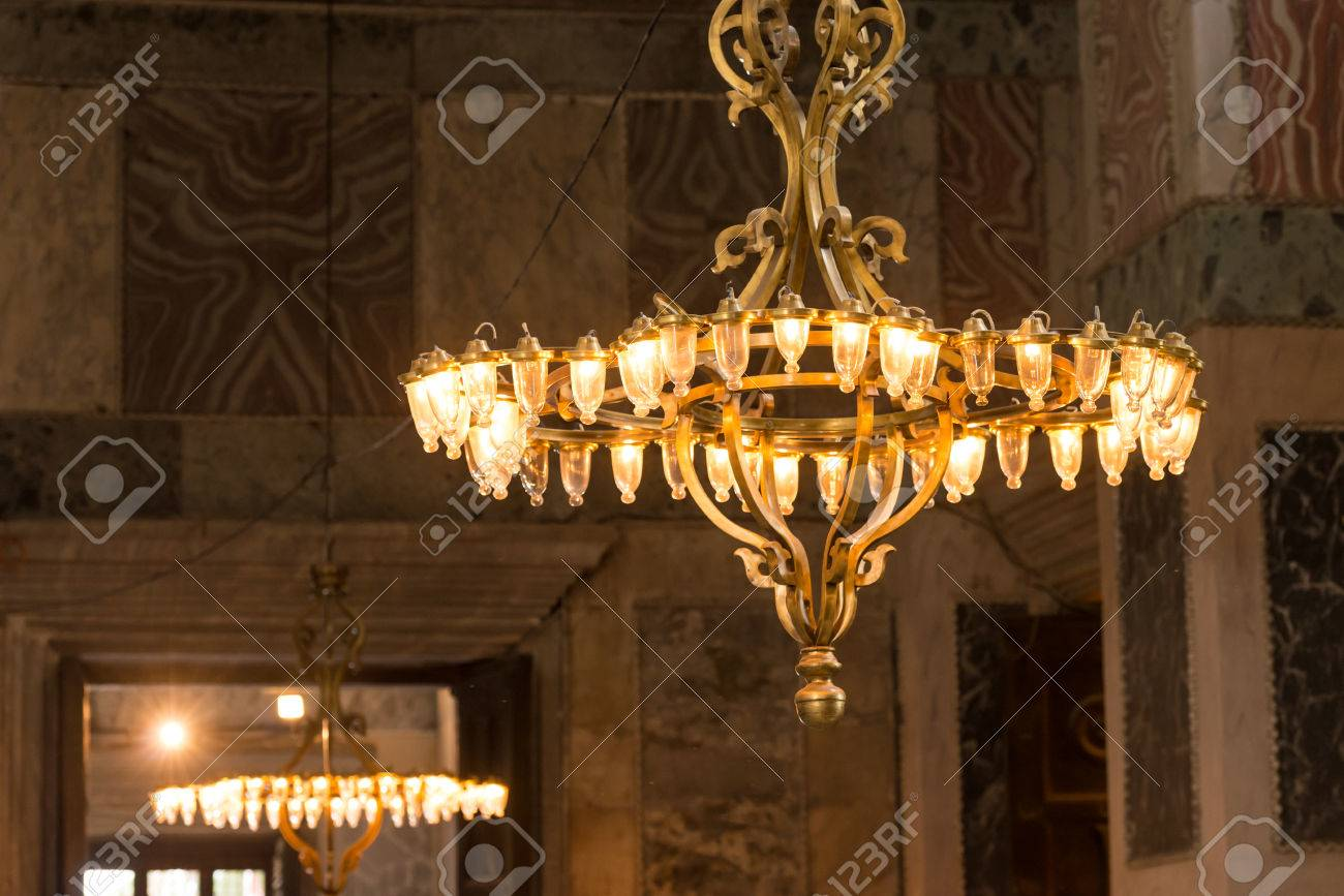 Chandeliers at the hagia sophia stock photo picture and royalty chandeliers at the hagia sophia stock photo 30776831 aloadofball Images