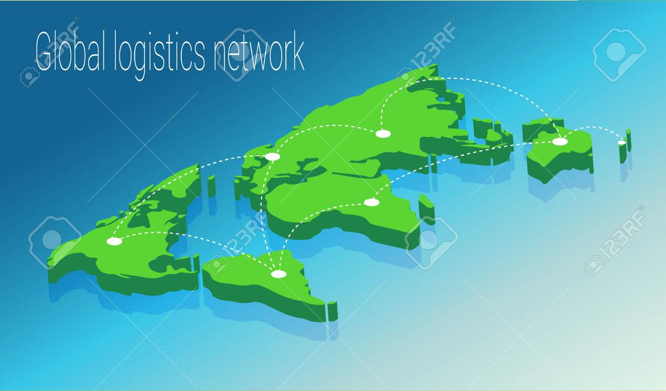 Map world isometric concept 3d flat illustration of map world map world isometric concept 3d flat illustration of map world vector world map connection gumiabroncs Image collections