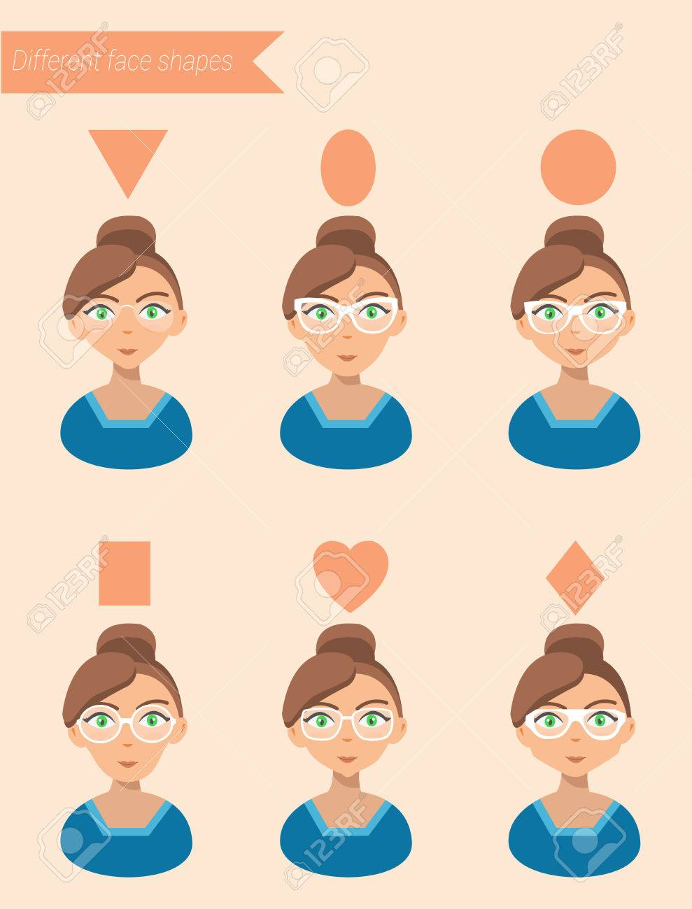 c47255940ec Womens Sunglasses Shapes for different face shapes vector illustration Stock  Vector - 58733271