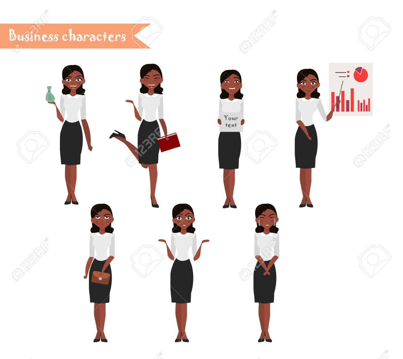 Funny African American Characters Wiring Diagrams Board Makeriso Pcb Makerprinted Circuit Product On Character For Scenes Office Woman Cartoon Rh 123rf Com Jokes Really Art