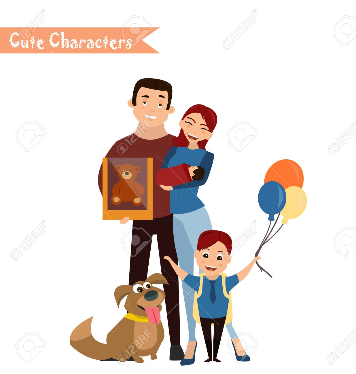 set of characters and people shopping vector illustration of rh 123rf com shopping victoria texas shipping victoria's secret