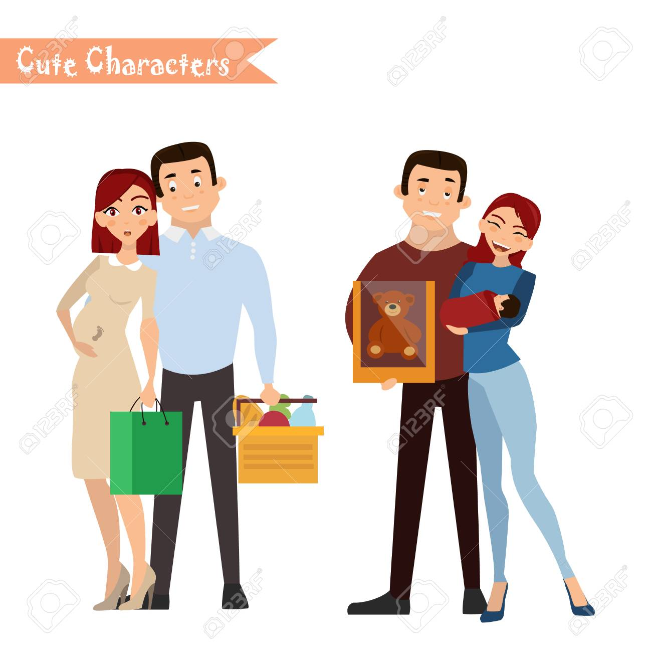 set of characters and people shopping vector illustration of rh 123rf com shopping victoria british columbia shopping victoria