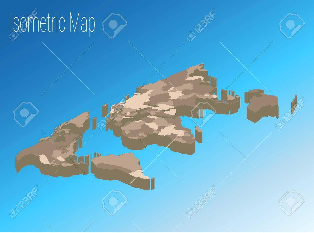 map world isometric concept political world map isometric 3d infographic eps world map infographics