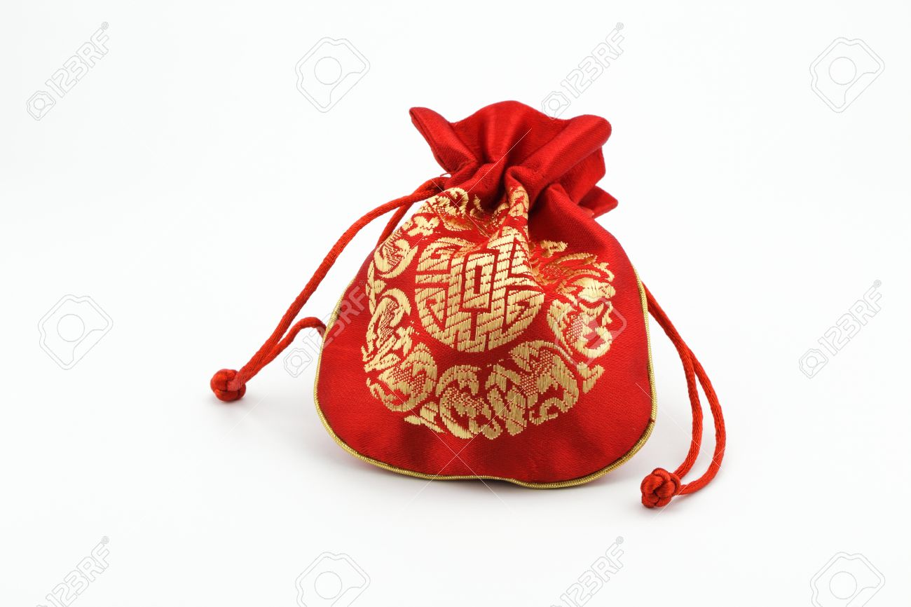 red chinese golden pouch isolated on white blackground Stock Photo -  20382378 a6cbc7f8f