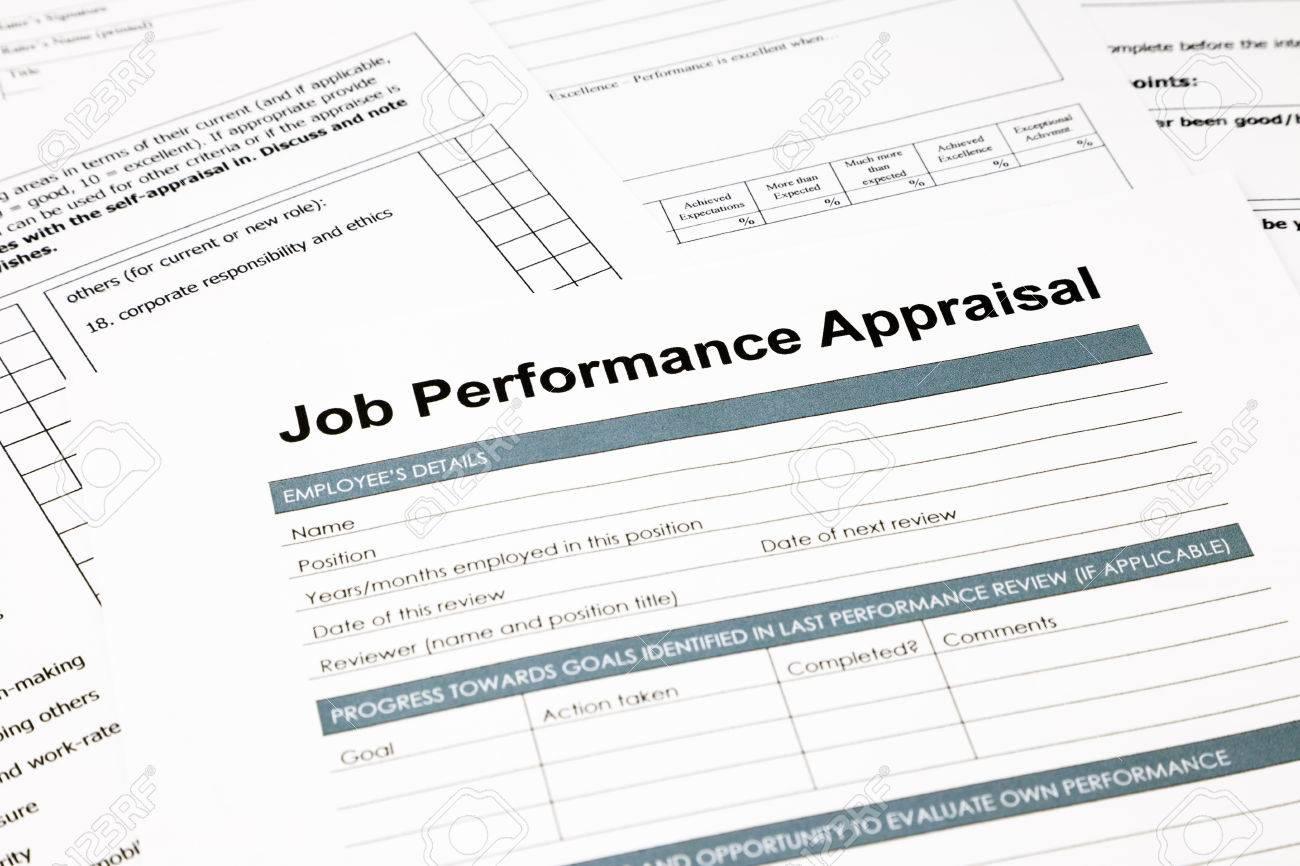 closeup job performance appraisal and paperwork evaluation and stock photo closeup job performance appraisal and paperwork evaluation and assessment concept for human resource business