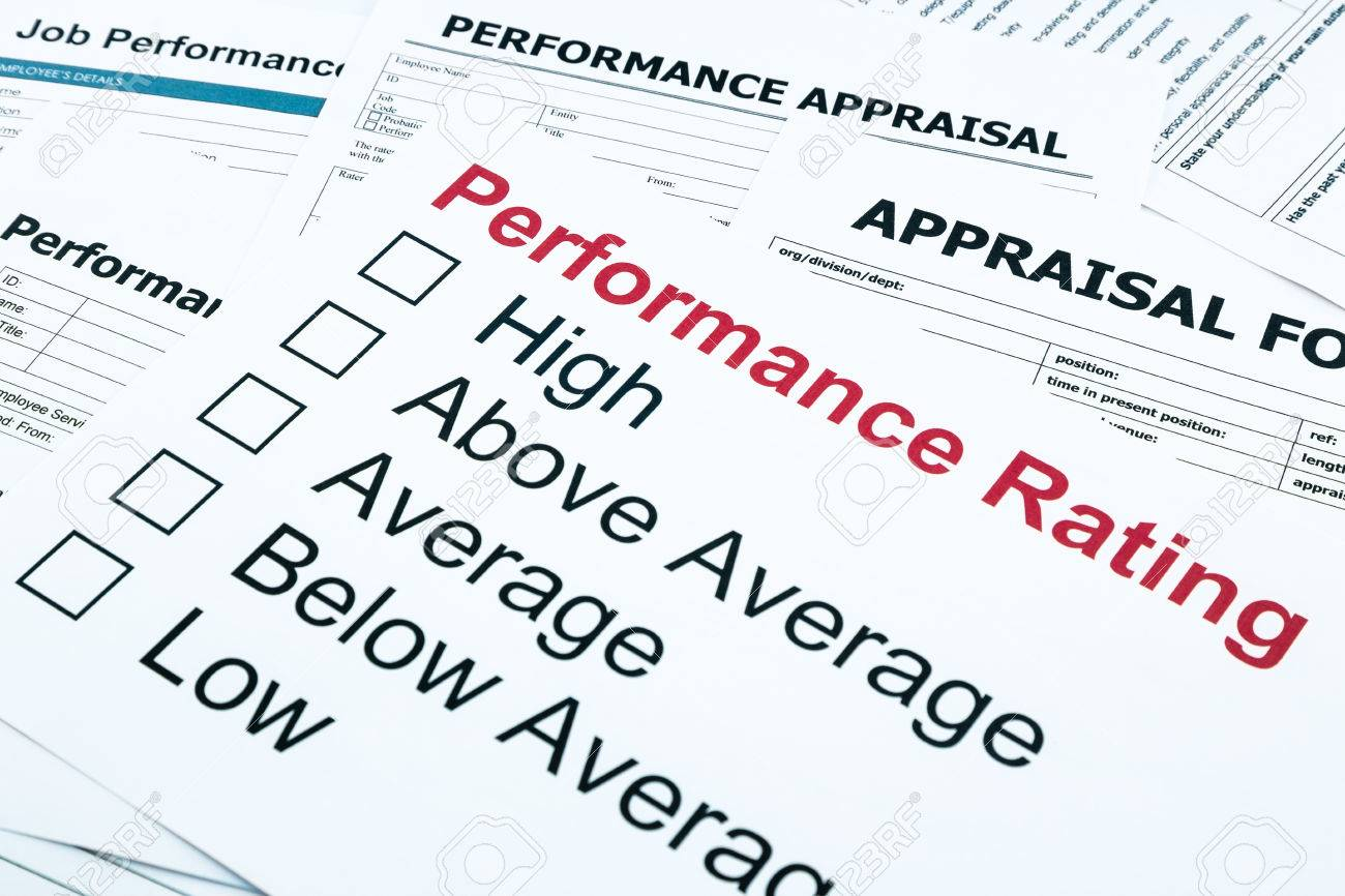 Closeup performance rating and appraisal form evaluation and closeup performance rating and appraisal form evaluation and assessment concept for business stock photo falaconquin