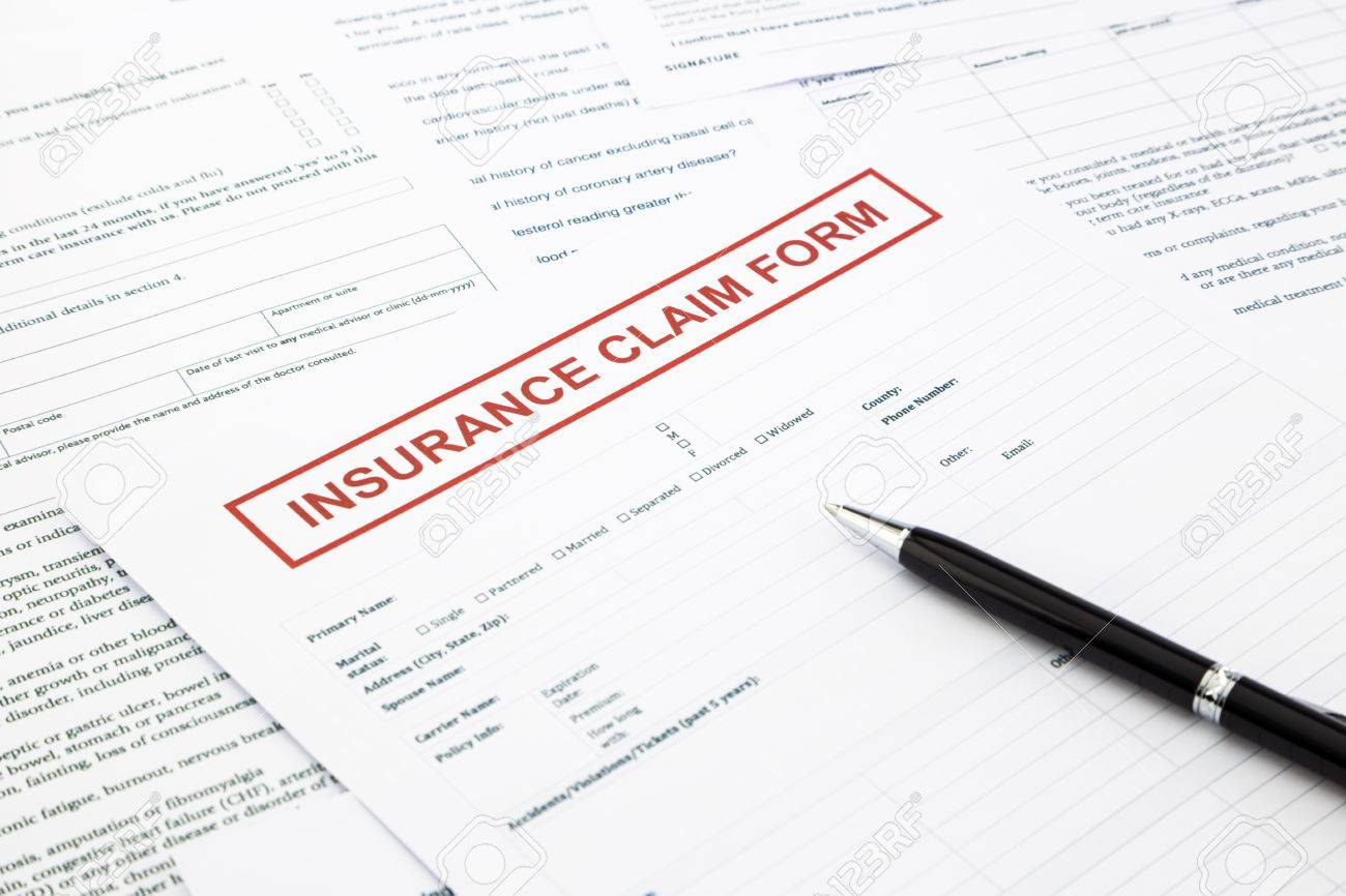 insurance claim form, paperwork and legal document, accidental and insurance concepts - 28040361