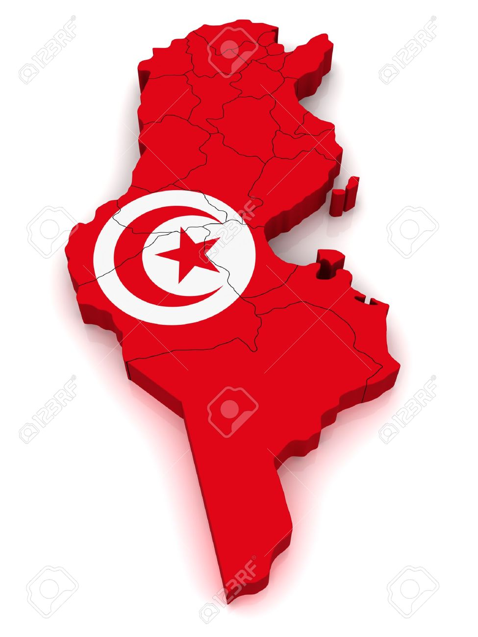 D Map Of Tunisia Stock Photo Picture And Royalty Free Image - Map of tunisia