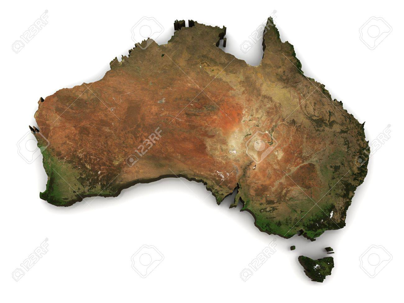 Free 3d Map Of Australia.Australia 3d Topography Map Comes From Earthobervatory Nasa