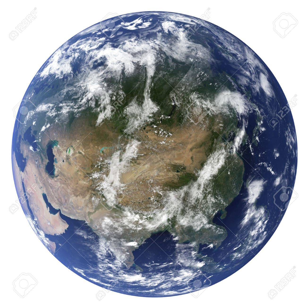 3D Earth globe (Clouds&Topography maps come from earthobervatory/nasa) - 9772346