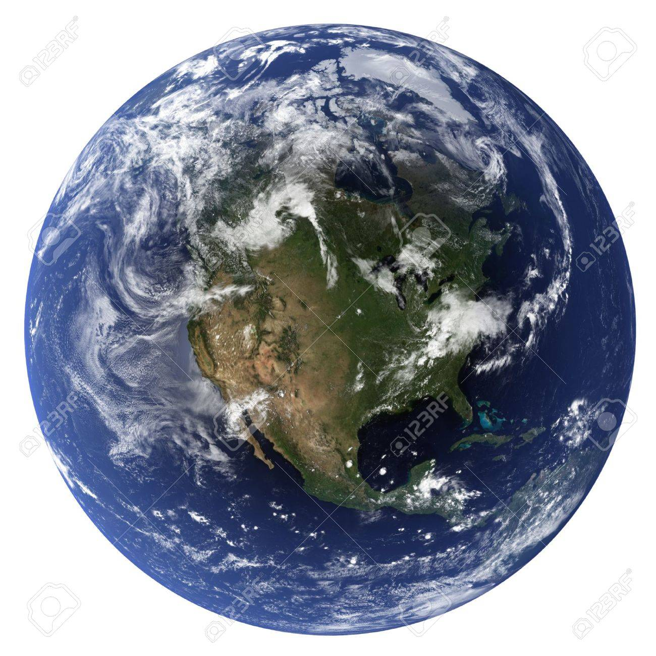 3D Earth globe (Clouds&Topography maps come from earthobervatory/nasa) Stock Photo - 9772325