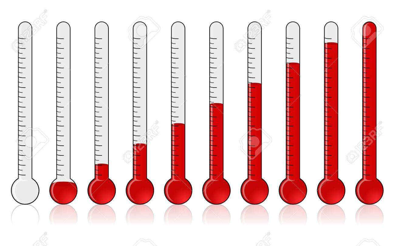 Thermometer - Progress Stock Photo - 10615526
