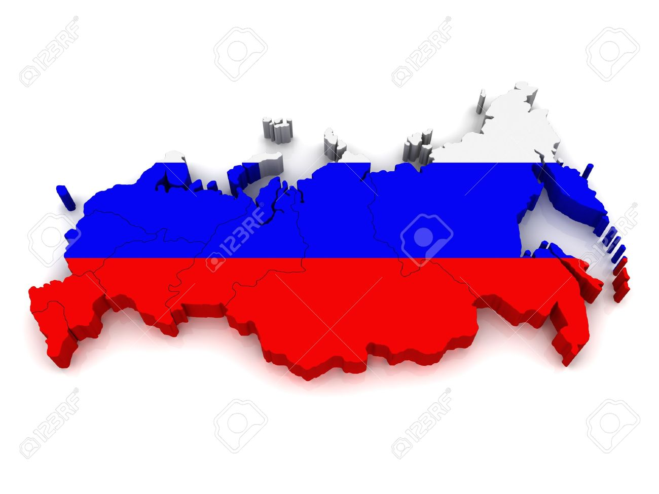 3D Map of Russia Stock Photo - 10984467