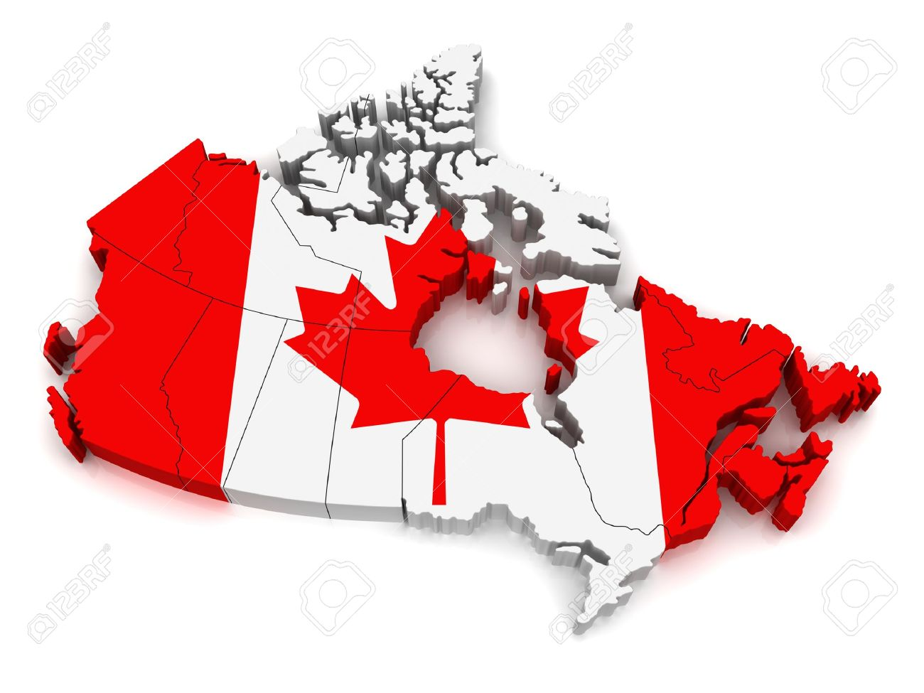 3d map of canada stock photo picture and royalty free image