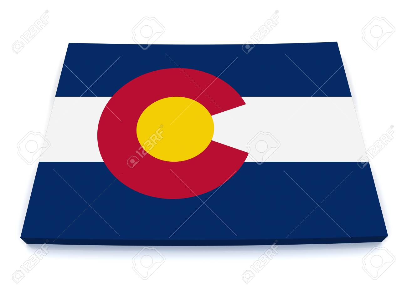 3D Map of Colorado Stock Photo - 11395222