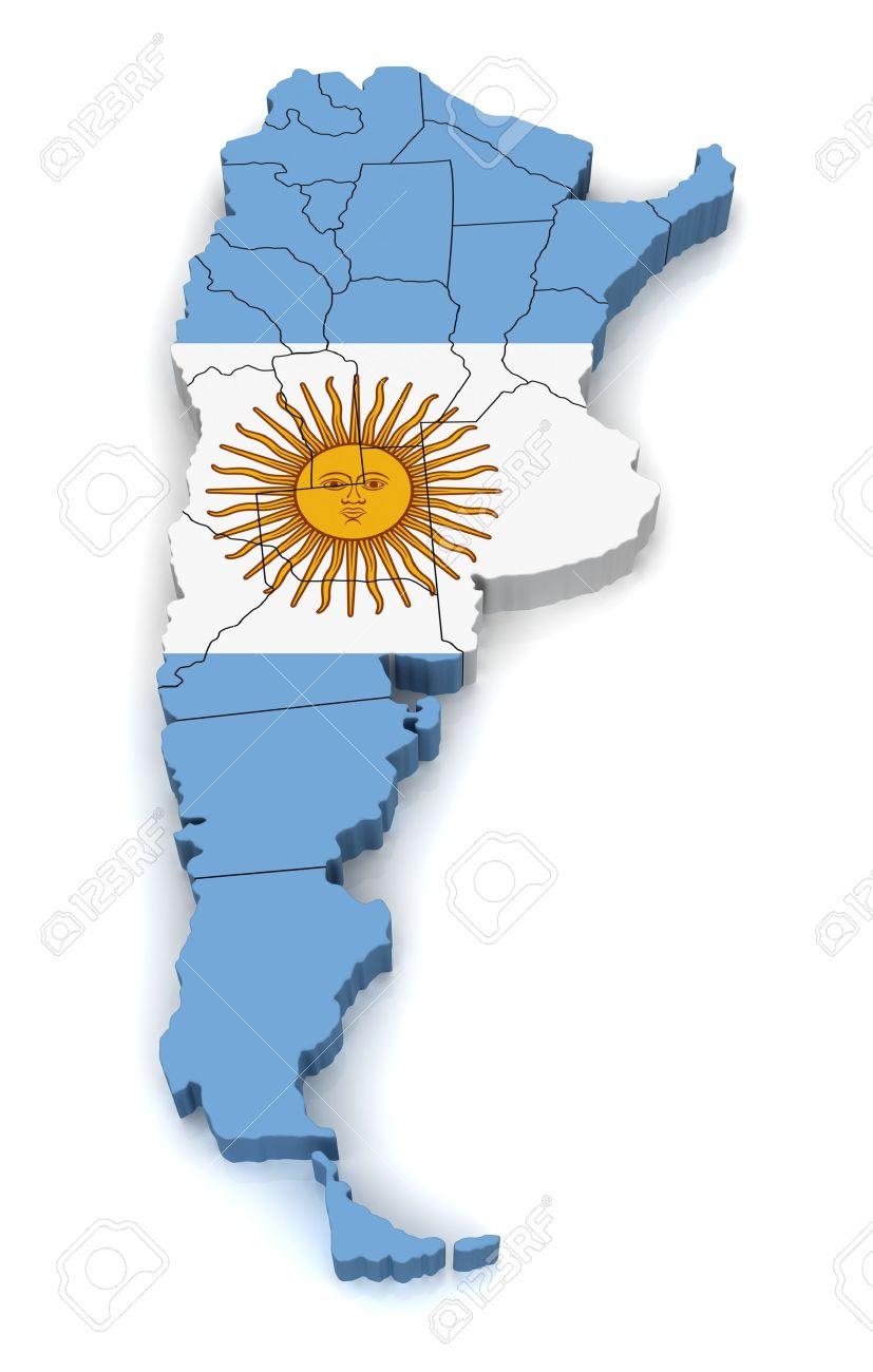 Mapa D De Argentina Fotos Retratos Imágenes Y Fotografía De - Argentina mapa