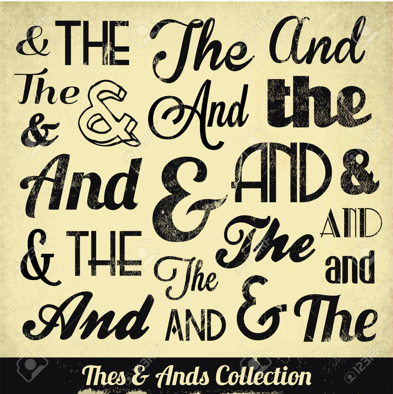 Various Vintage Thes   Ends Collection  For High Quality Graphic Projects Stock Vector - 23763847
